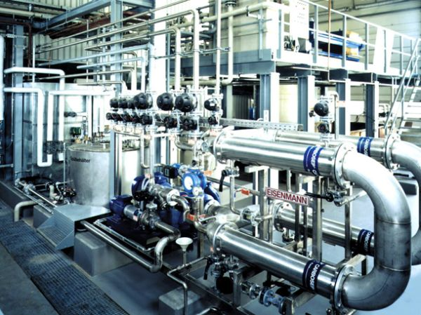Eisenmann ultrafiltration plant for emulsion splitting