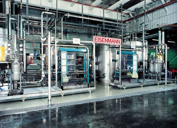 Waste water recycling in the printing ink industry