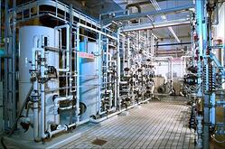 Process water treatment via ion exchange