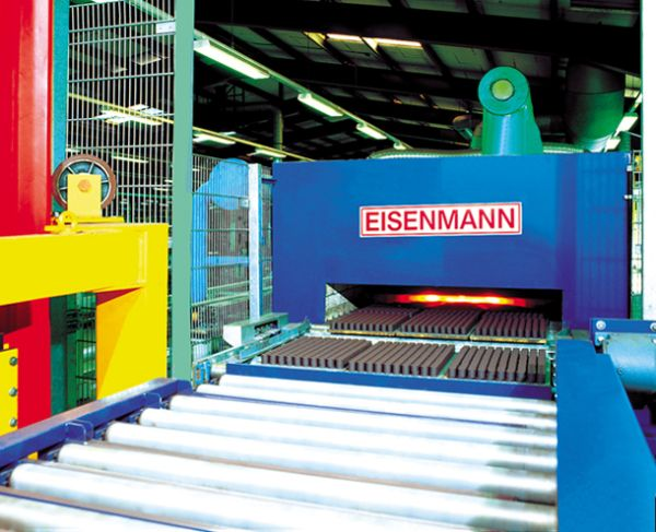 Roller-type kilns for ferrites and solenoids