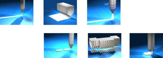 Various application methods in the adhesive technology